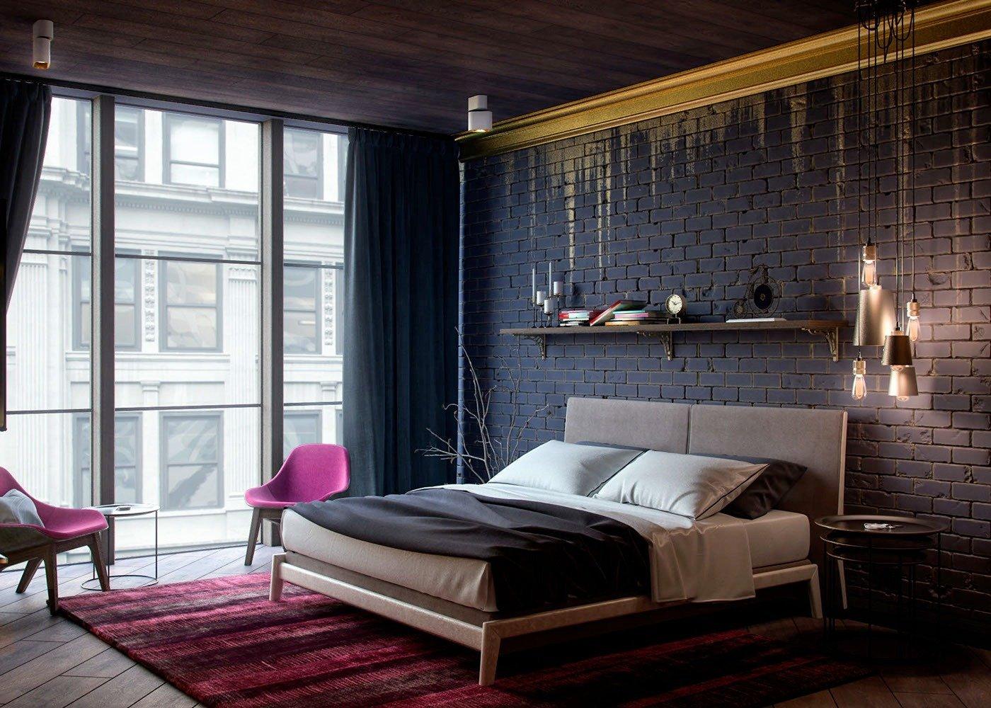 Рельефные обои для спальни