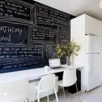Школьная доска в интерьере кухни