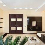 Встроенные светильники на потолке