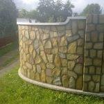 Каменный забор на участке