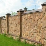 Забор с колоннами