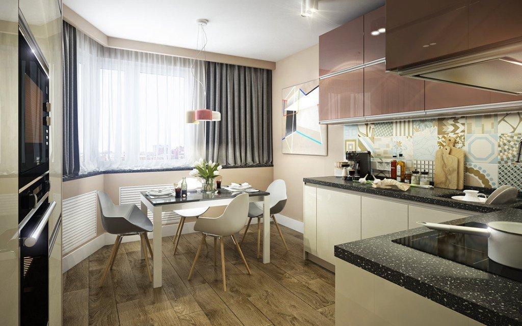 Дизайн двухкомнатной квартиры серии п44т
