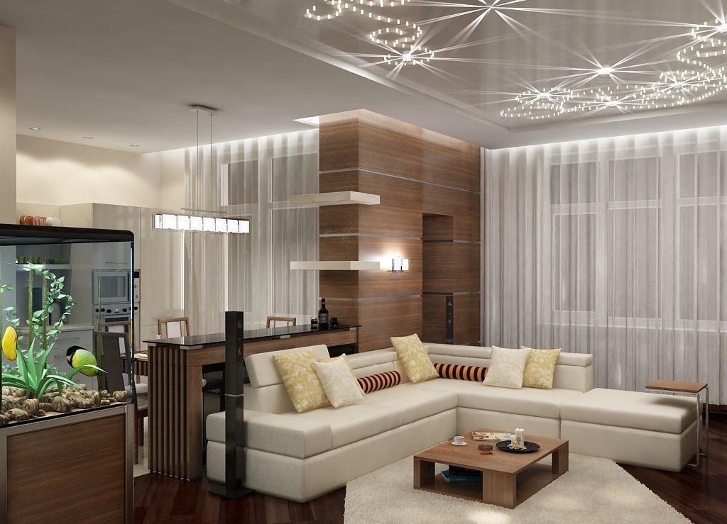 Дизайн гостиной студии