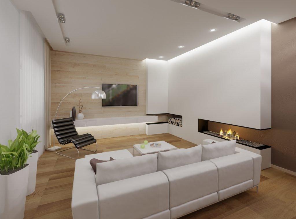 Освещение в гостиной в стиле минимализм
