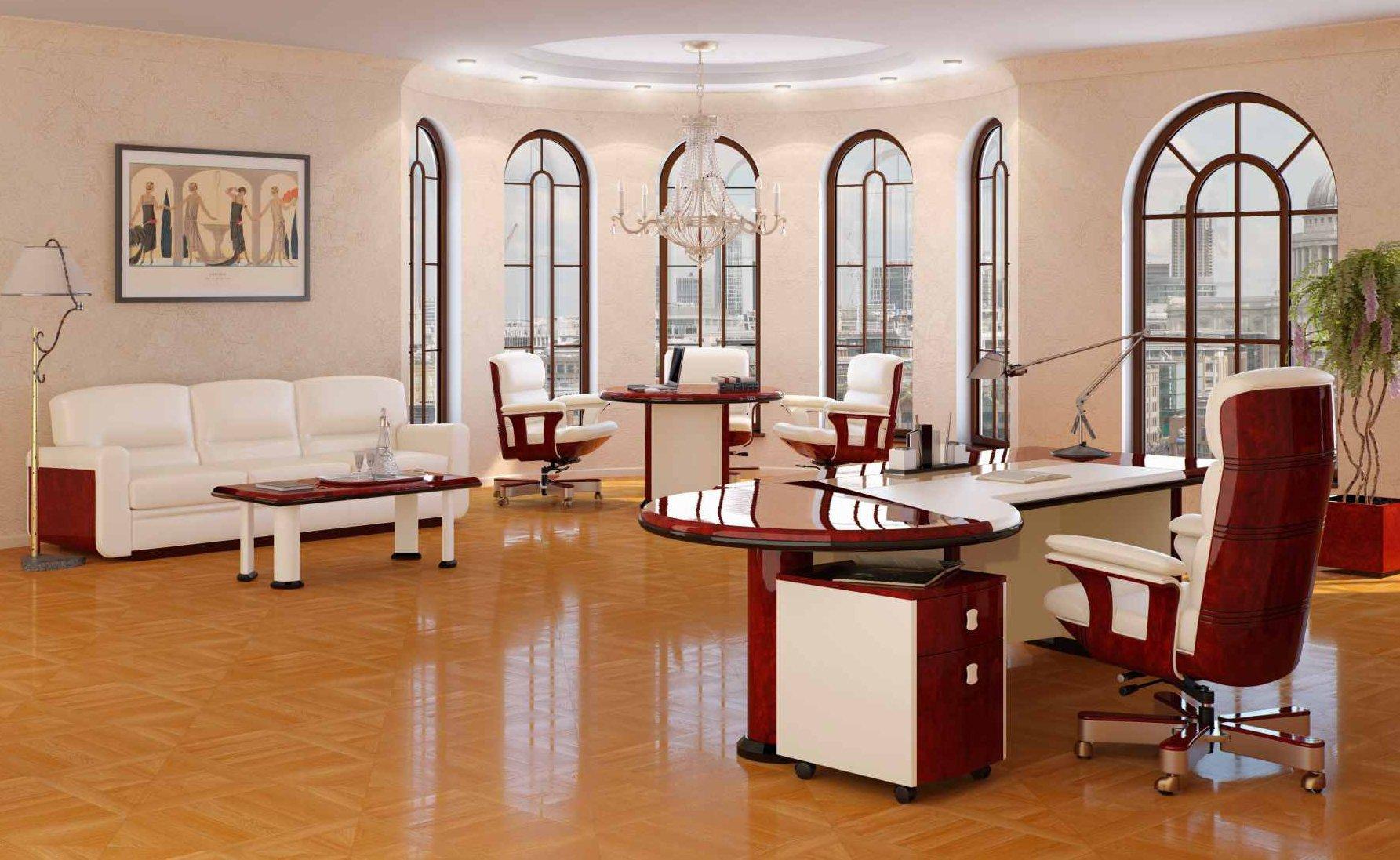 Светлый офис в классическом стиле