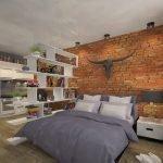 Зонирование комнаты в общежитии