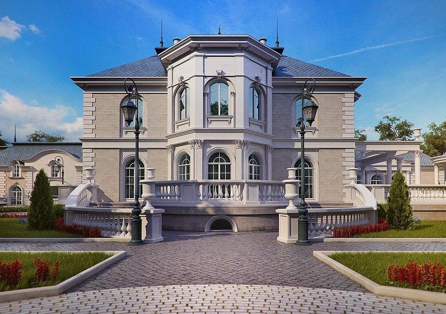 Коттедж в стиле барокко