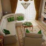 Квартира 65 кв м в классическом стиле