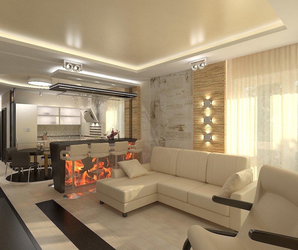 Квартира 65 кв м в светлых тонах
