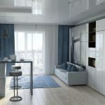 Дизайн однокомнатной квартиры 33 кв м