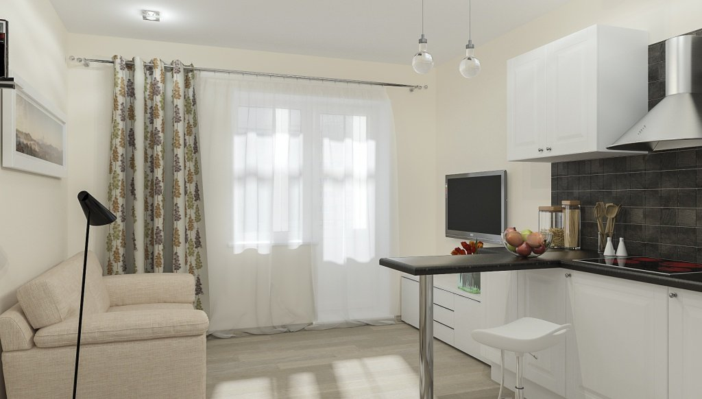 Минимализм в декоре квартиры-студии