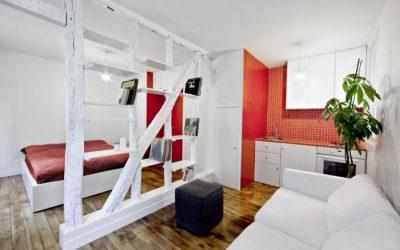 Дизайн квартиры-студии площадью 24 кв. метра +50 фото