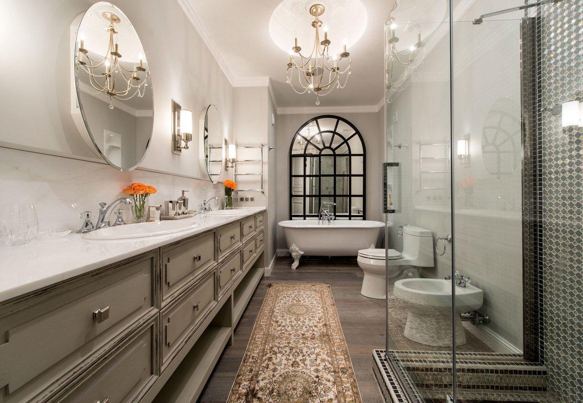 Сантехника в ванной в классическом стиле