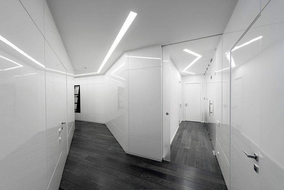 Освещение в интерьере в стиле футуризм