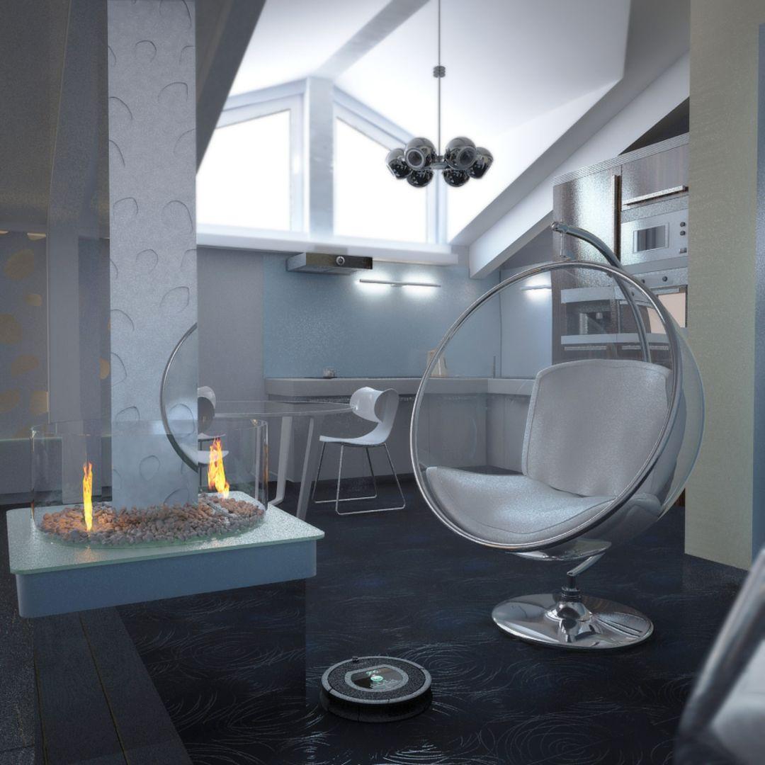 Декор в интерьере в стиле футуризм