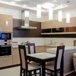 Кухонная мебель со встроенной печью