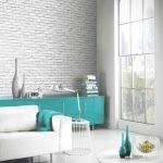 Бирюзовая мебель в светлом интерьере