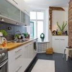 Кухня с линейной планировкой