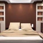 Ниши с подсветкой в спальне