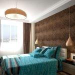 Многоуровневый потолок в спальне