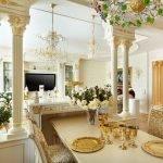 Отделка позолотой в декоре комнаты