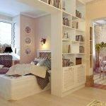 Дизайн спальни в гостиной