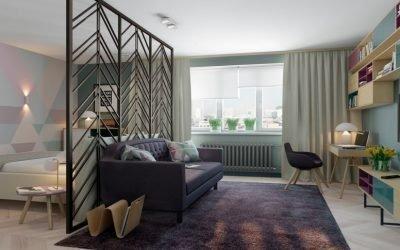 Зонирование комнаты на спальню и гостиную: идеи разделения