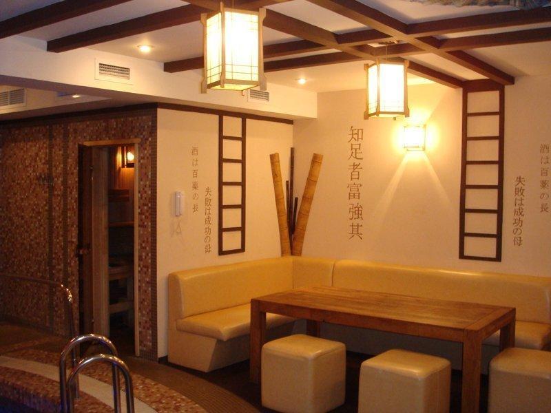 Комната отдыха в бане в японском стиле
