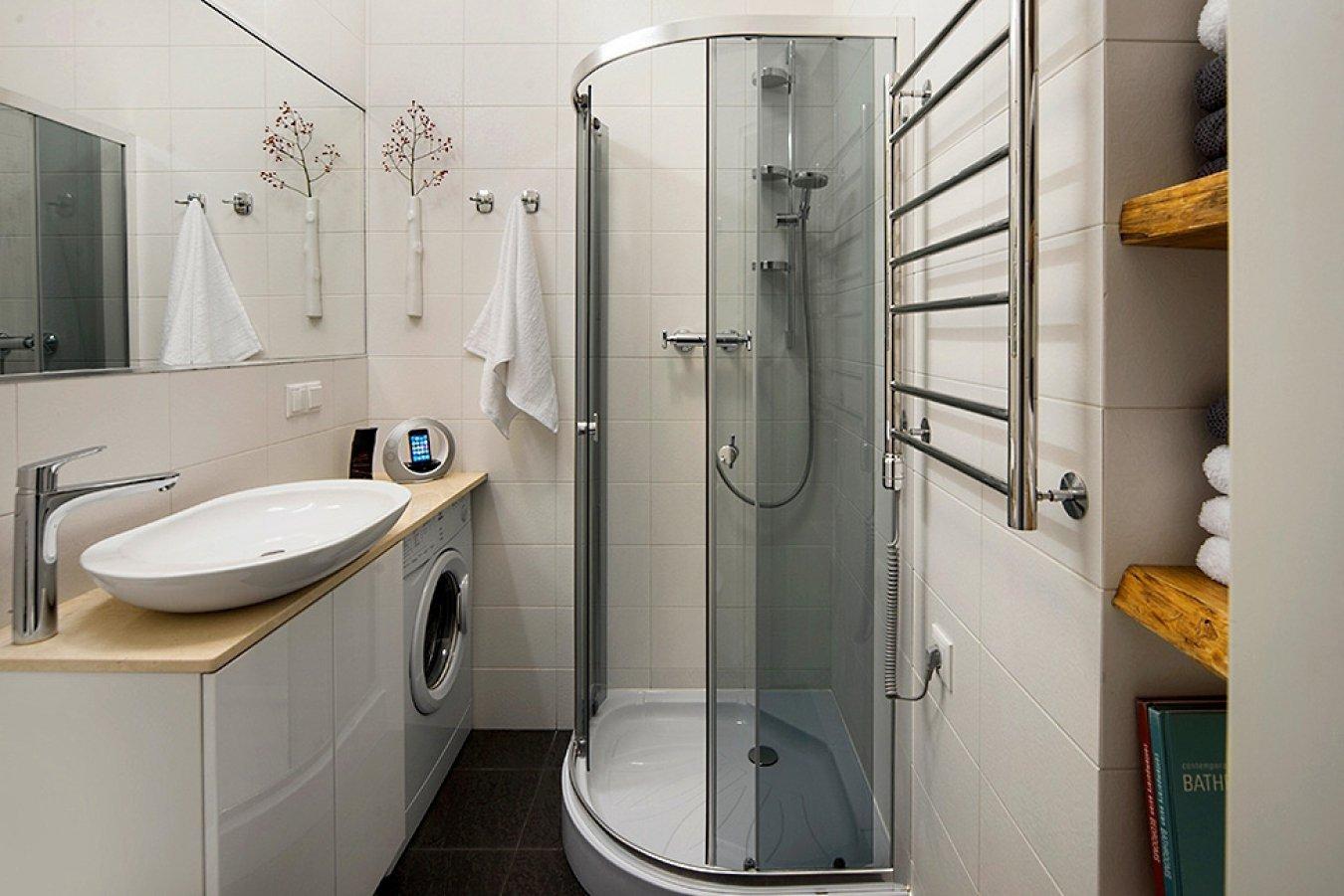 Дизайн ванной комнаты в однокомнатной квартире 33 кв м