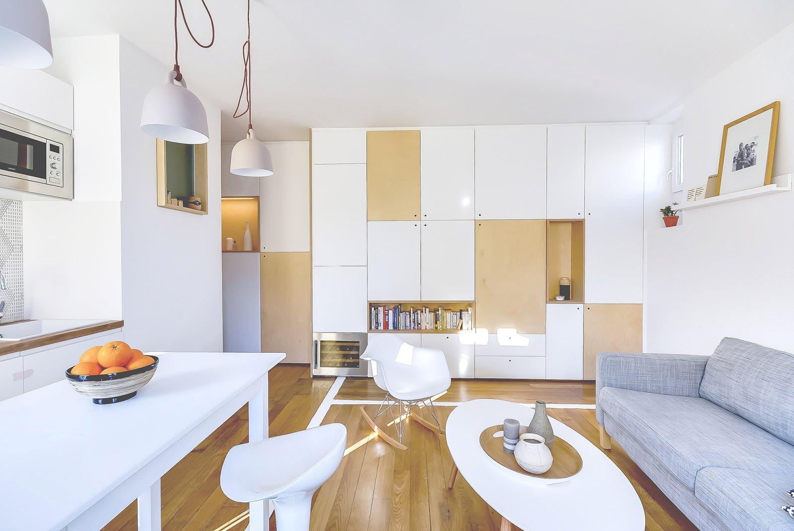 Ламинат на полу однокомнатной квартиры 33 кв м