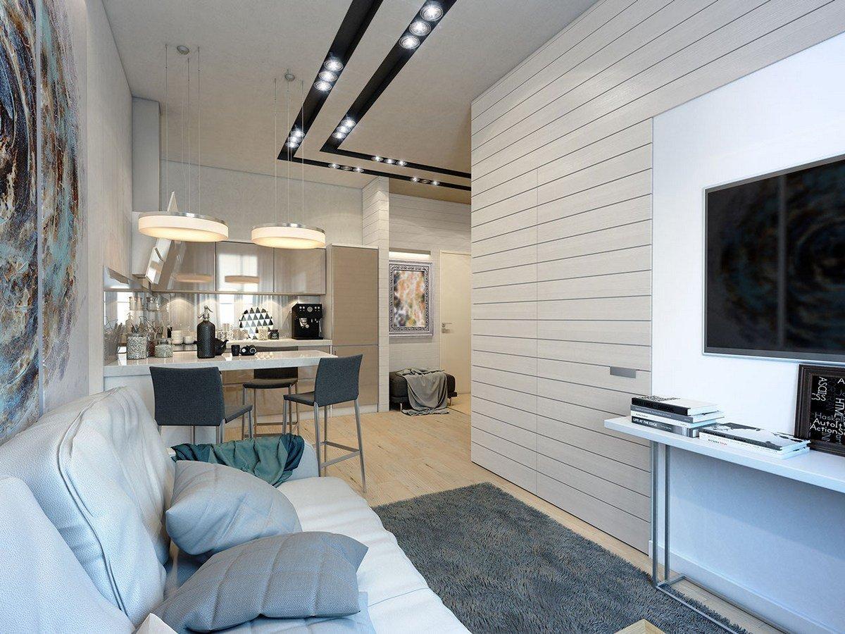 Мебель в однокомнатной квартире 33 кв м