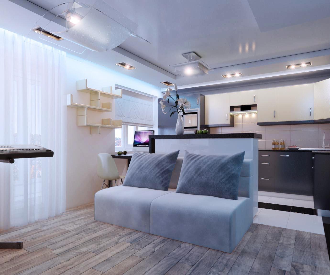 Освещение в однокомнатной квартире 33 кв м