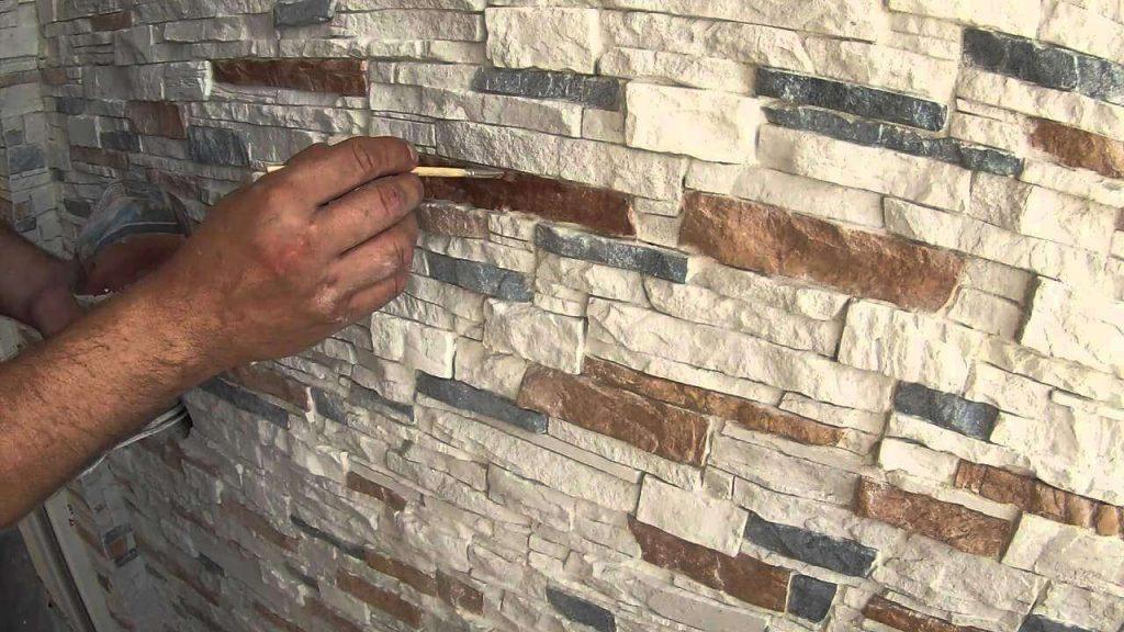 Покраска декоративного камня