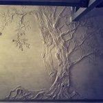 Дерево из декоративной штукатурки