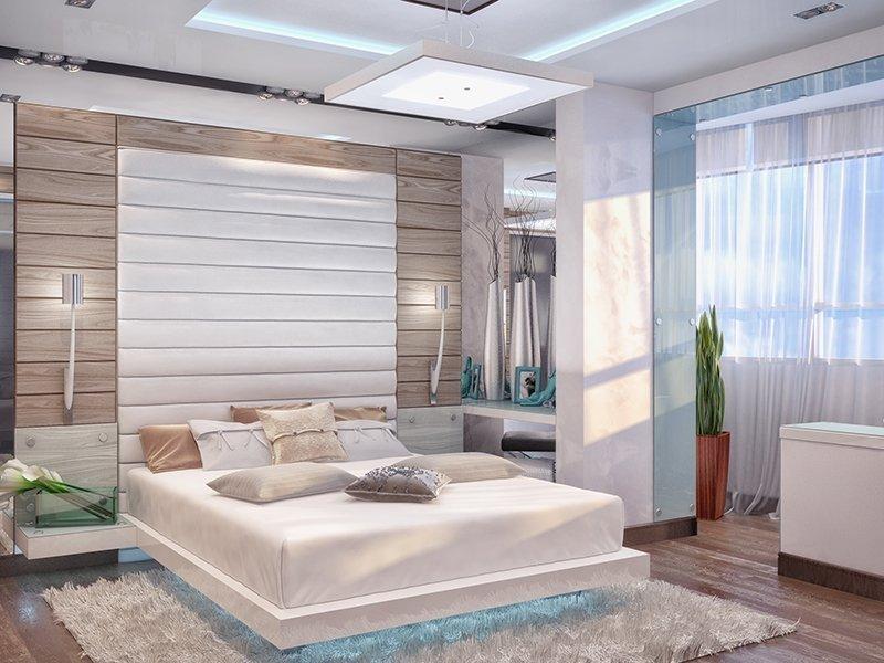 Планировка спальни с лоджией