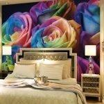 Фотообои с цветными розами