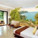Дизайн спальни с фотообоями в стиле эко