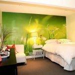 Фотообои зеленого цвета