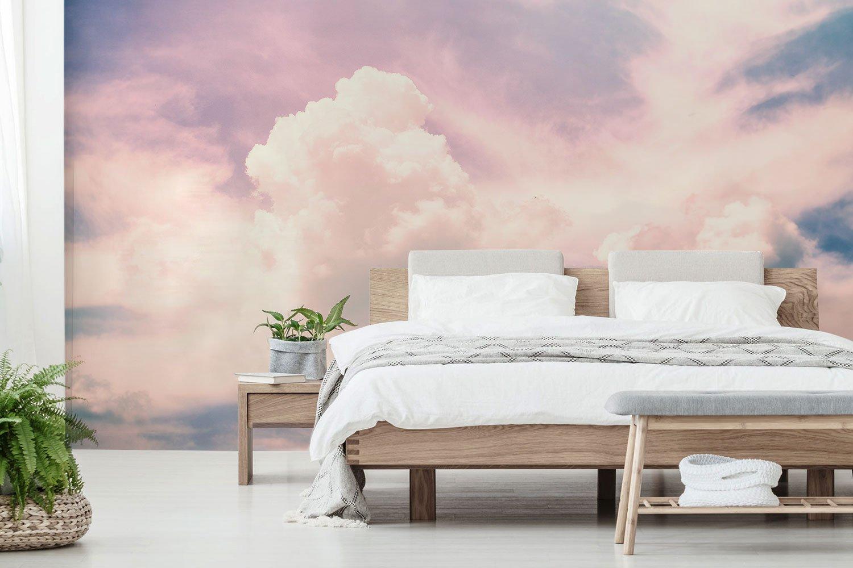 Фотообои с розовыми облаками