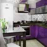 Обсуждаем Фиолетовая кухня: особенности дизайна