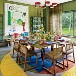 Столовая с интерьером стиле 60-х