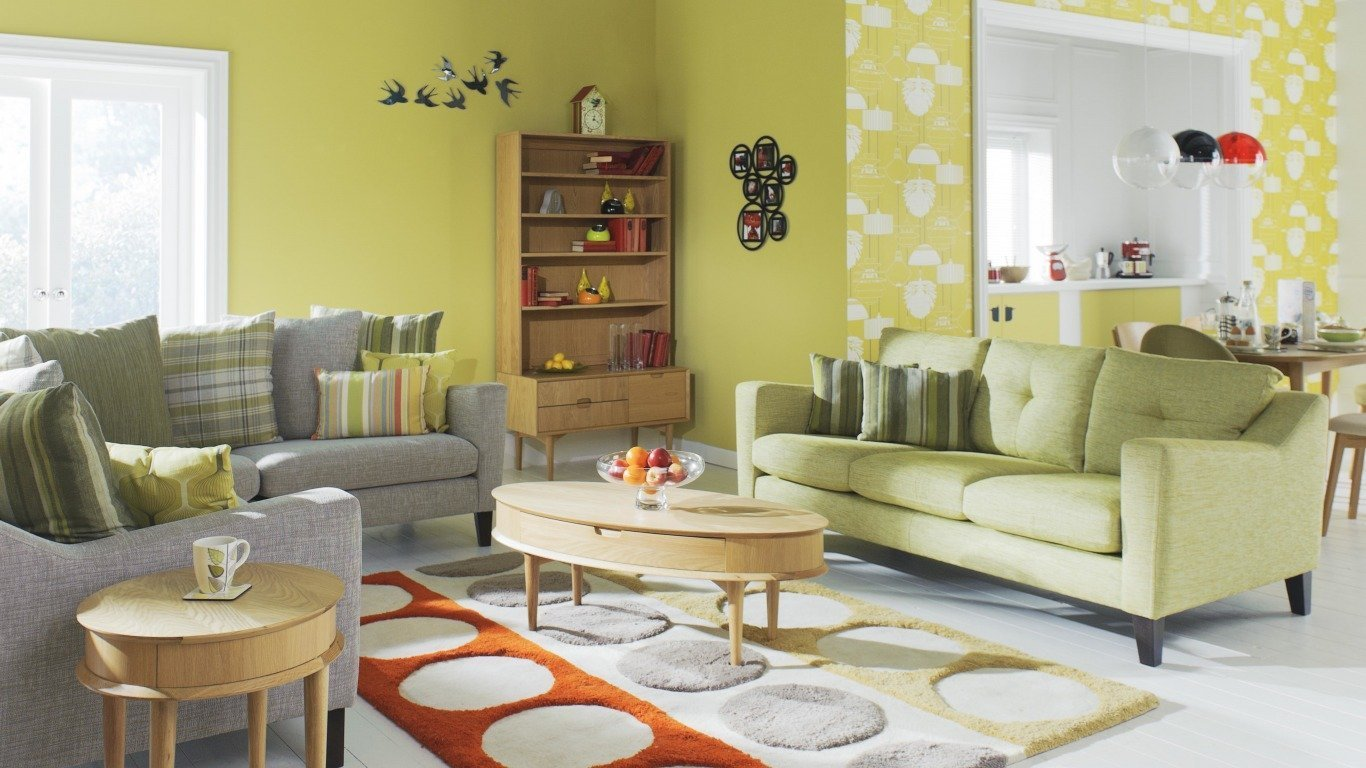 Стиль 60-х в интерьере современной гостиной
