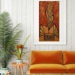 Апельсиновая иллюстрация и диван
